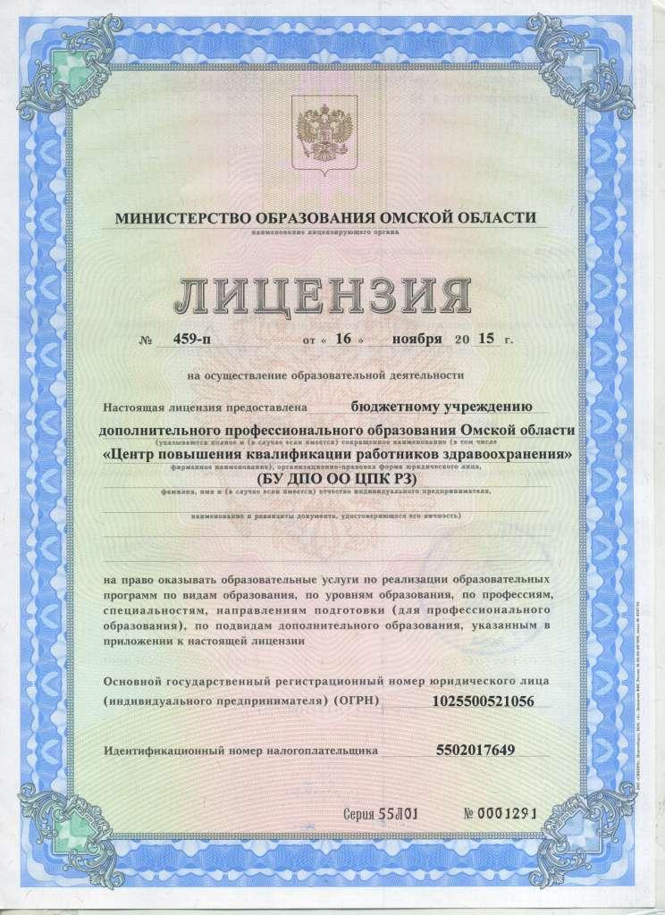 Лицензия (страница 1)