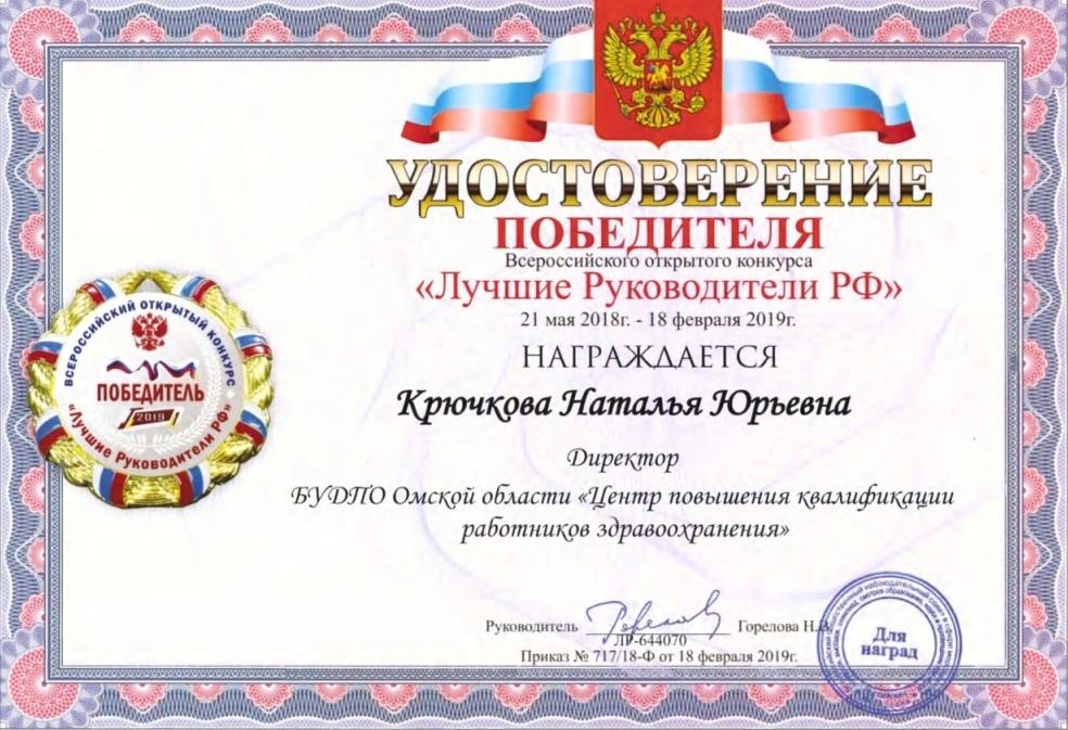 Итоги Всероссийского конкурса «Лучшие Руководители РФ»