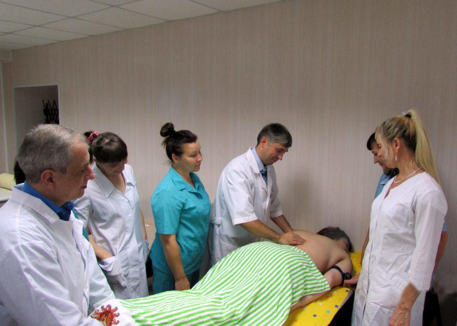 25 ноября 2019 года состоялся мастер-класс по теме «Методика классического массажа при сколиотической болезни». Преподаватель Огрызков В.М. Обучено 11 специалистов.